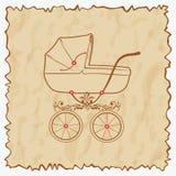 Carro de bebé de la vendimia. Fotografía de archivo libre de regalías