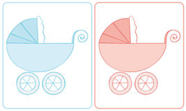 Carro de bebê. Fotografia de Stock Royalty Free