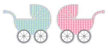 Carro de bebê Fotos de Stock Royalty Free