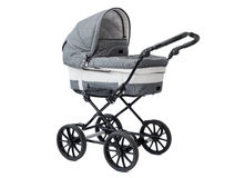 Carro de bebê novo imagens de stock