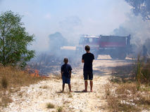 Carro de bombeiros Foto de Stock