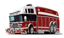 Carro de bombeiros dos desenhos animados do vetor Imagens de Stock Royalty Free