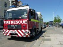 Carro de bombeiros na arremetida Fotografia de Stock Royalty Free