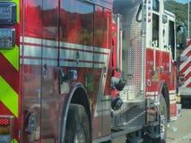 Carro de bombeiros na arremetida Imagens de Stock Royalty Free