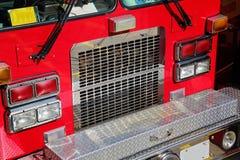 Carro de bombeiros pronto para responder à emergência fotos de stock royalty free