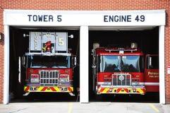 Carro de bombeiros vermelho Foto de Stock Royalty Free