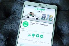 Carro de Careem que registra o app Imagens de Stock Royalty Free