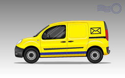 Carro de cargo amarelo fotografia de stock royalty free