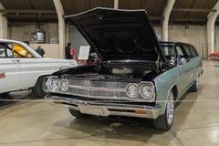 Carro de Chevrolet Chevelle Malibu en la exhibición Fotos de archivo libres de regalías