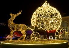 Carro de Cinderella en la noche Fotografía de archivo libre de regalías