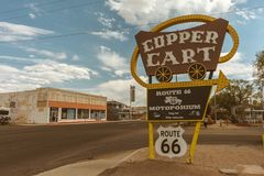 Carro de cobre - Route 66 o Arizona - EUA fotografia de stock