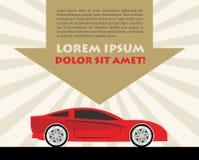 Carro de competência ilustração royalty free