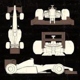 Carro de competência da aerodinâmica ilustração stock