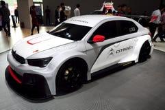 Carro de competência de Citroen Elysee WTCC Foto de Stock Royalty Free