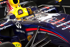 Carro de competência de Red Bull RB7 F1 Foto de Stock Royalty Free