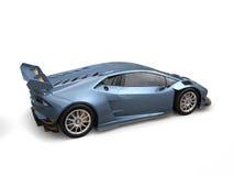 Carro de competência do azul de aço com acentos do ouro ilustração do vetor