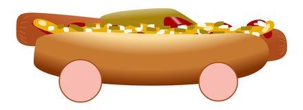 Carro de competência do cachorro quente ilustração do vetor