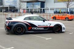 Carro de competência Nissan GTR foto de stock royalty free