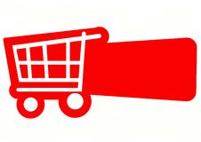 Carro de compra Imagem de Stock Royalty Free