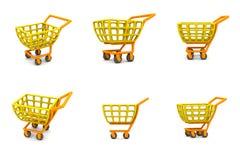 Carro de compra 3D múltiplo Fotografia de Stock