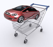 Carro de compra (carro de compra) Fotografia de Stock Royalty Free