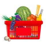 Carro de compra saudável ilustração do vetor