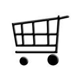 Carro de compras. Foto de archivo