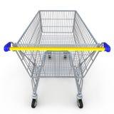 carro de compras 3d en el fondo blanco Fotos de archivo libres de regalías