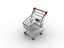 Carro de compras (aislado) Foto de archivo libre de regalías