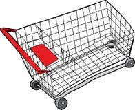 Carro de compras aislado Fotografía de archivo libre de regalías