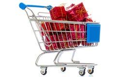Carro de compras aislado Imagen de archivo libre de regalías