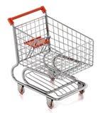 Carro de compras aislado en el fondo blanco ilustración 3D stock de ilustración