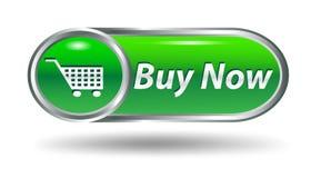 Carro de compras, botón del icono de la compra Imágenes de archivo libres de regalías