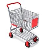 Carro de compras con el camino de recortes del vector Imágenes de archivo libres de regalías