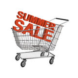 Carro de compras de la venta del verano Imagenes de archivo