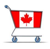 Carro de compras de sobra del déficit del mercado comercial de Canadá Imagen de archivo libre de regalías