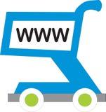 Carro de compras de WWW stock de ilustración