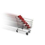 Carro de compras del comercio electrónico Foto de archivo libre de regalías