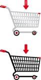 Carro de compras del vector Fotografía de archivo