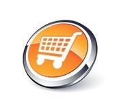 Carro de compras. Icono del vector ilustración del vector