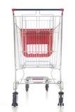 Carro de compras rojo grande Fotografía de archivo libre de regalías