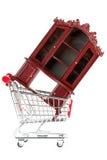 Carro de compras y aparador Foto de archivo libre de regalías
