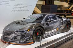 Carro de corridas de Acura NSX GT3 fotografia de stock