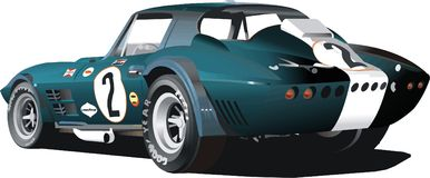 Carro de corridas azul Fotos de Stock Royalty Free
