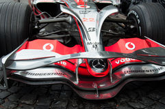 Carro de corridas da fórmula 1 de Mercedes MCLaren Foto de Stock