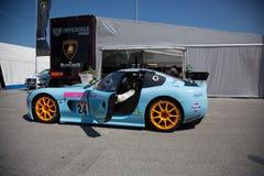 CARRO DE CORRIDAS de Ginetta G50 GT4 Fotografia de Stock Royalty Free