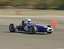 Carro de corridas do azul do vintage Imagem de Stock Royalty Free
