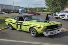 Carro de corridas do desafiador de Dodge Foto de Stock Royalty Free