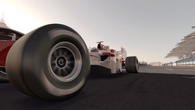 Carro de corridas do Fórmula 1 Fotos de Stock Royalty Free
