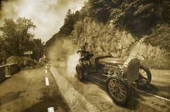 Carro de corridas do vintage foto de stock royalty free